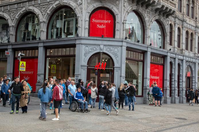 Een van de H&M-winkels in Amsterdam.