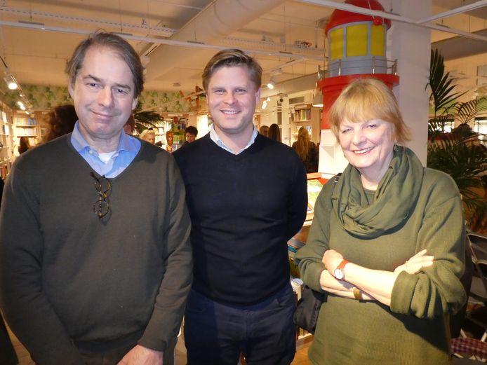 Dierenbeschermer Hans Baaij, oude vriend Rutger van Suchtelen en editor at large Hanca Leppink.