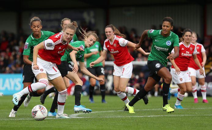 Vivianne Miedema scoorde vandaag namens Arsenal tegen Brighton.