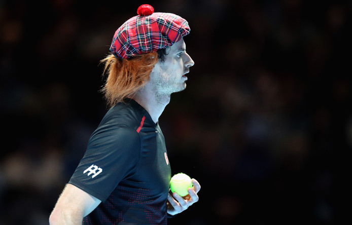 GLASGOW, SCOTLAND - NOVEMBER 07:  Andy Murray looks on during his match against Roger Federer during Andy Murray Live at The Hydro on November 7, 2017 in Glasgow, Scotland.  (Photo by Steve Welsh/Getty Images for Andy Murray Live)