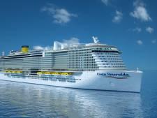 Cruiseschip op gas toch niet naar Rotterdam vanwege vertraging bij de bouw