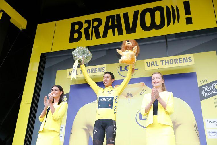 Zondag in het geel op de Champs-Elysées, dinsdag op het Dovy Natourcriterium: Egan Bernal.