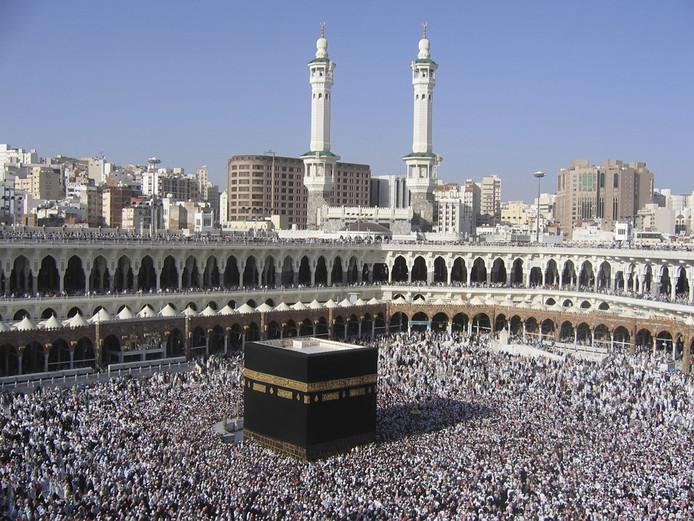 Het moslimheiligdom al-Masjid al-Haram, de moskee met de Ka'aba.