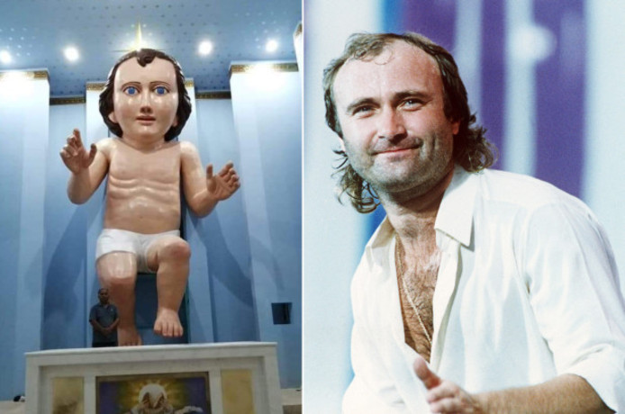 Phil Collins (r).
