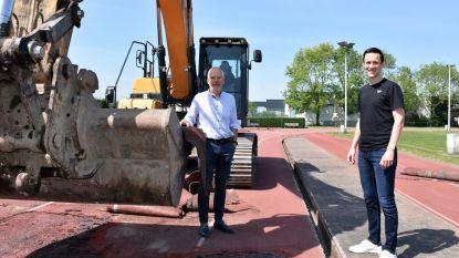 Renovatiewerken gestart aan atletiekpiste Jozef Verhellestadion, ook indoor oefencomplex in de maak