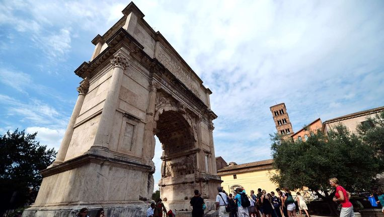 De triomfboog van Titus in Rome. Beeld anp