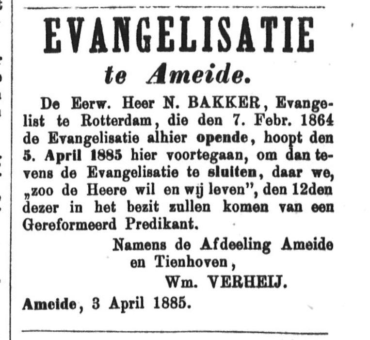 Het gebouw 'Evangelisatie' fungeerde als alternatief voor de liberale kerk, maar had geen eigen dominee. Nu de kerk een 'Gereformeerd' predikant krijgt, kan de Evangelisatie dicht.  Beeld