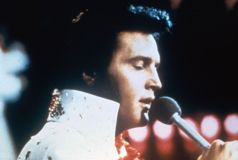 Elvis Presley in concert.