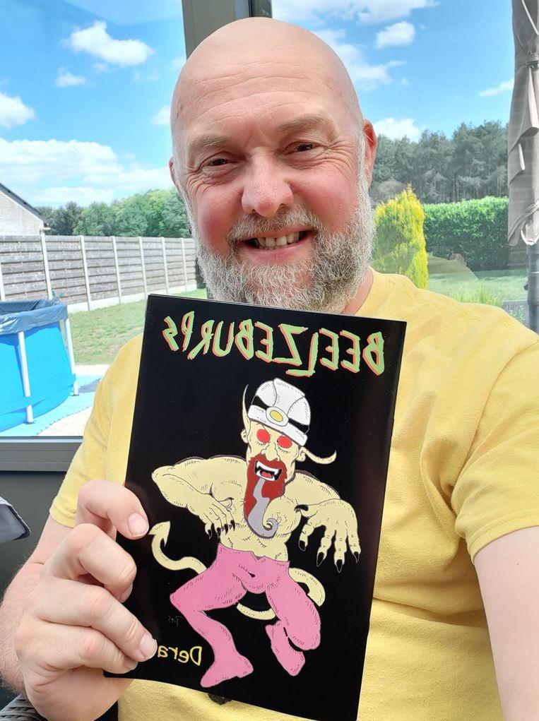 Peter 'Pies' Laeremans met zijn strip