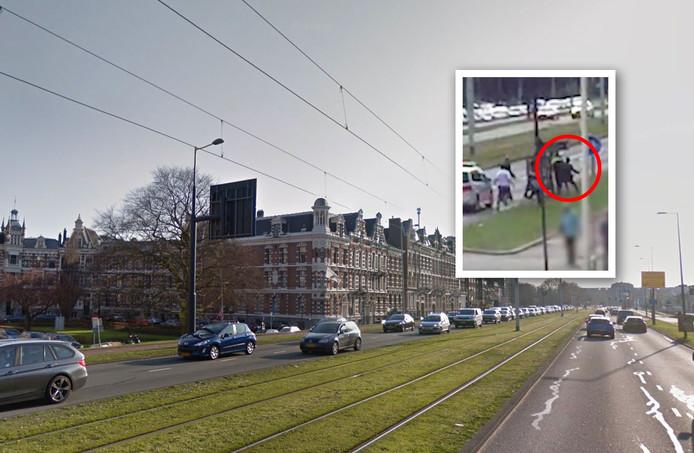 Bij een trouwstoet in Rotterdam werd een politie agent neergeslagen
