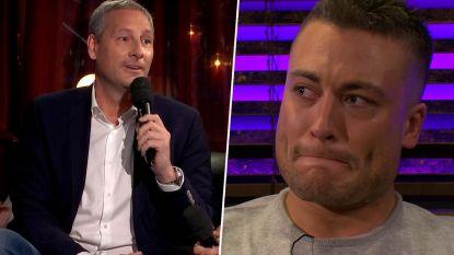 Viktor in tranen nadat Gert Verhulst 'Kleine Jongen' zingt met André Hazes