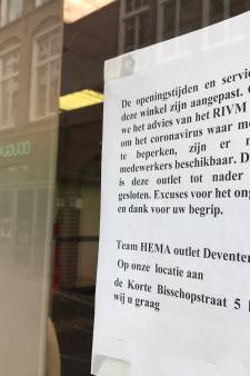 HEMA sluit outlet in Deventer wegens coronacrisis