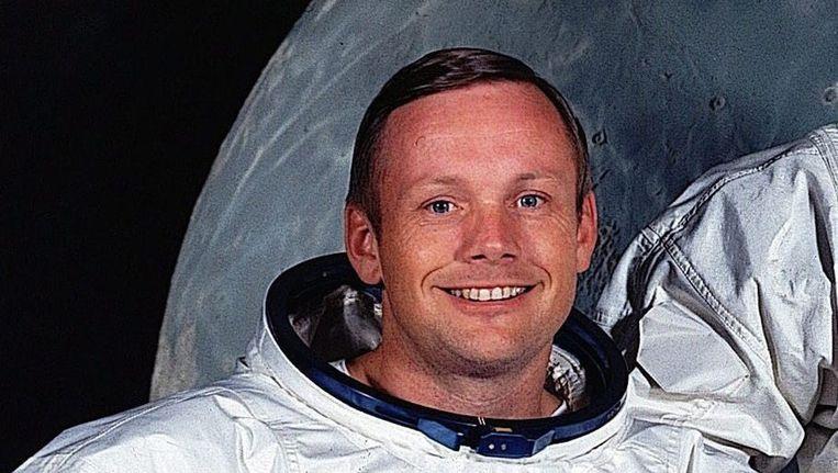 Een foto van Armstrong uit mei 1969 Beeld epa