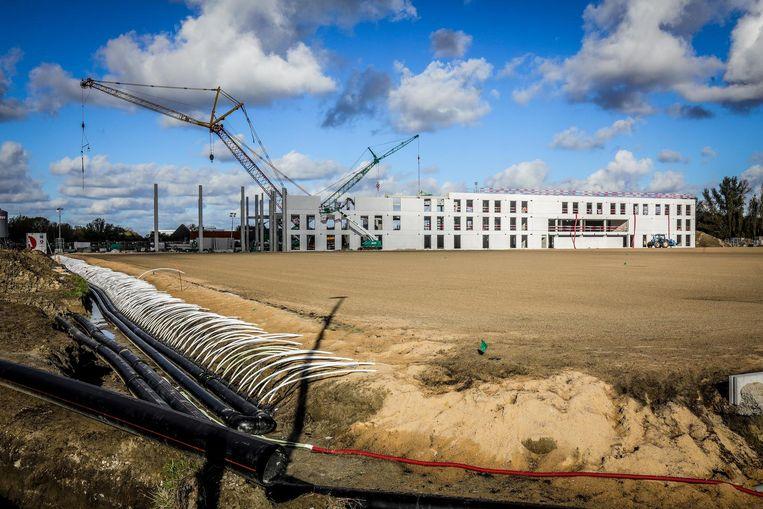 Het nieuwe trainingscentrum is volop in opbouw.