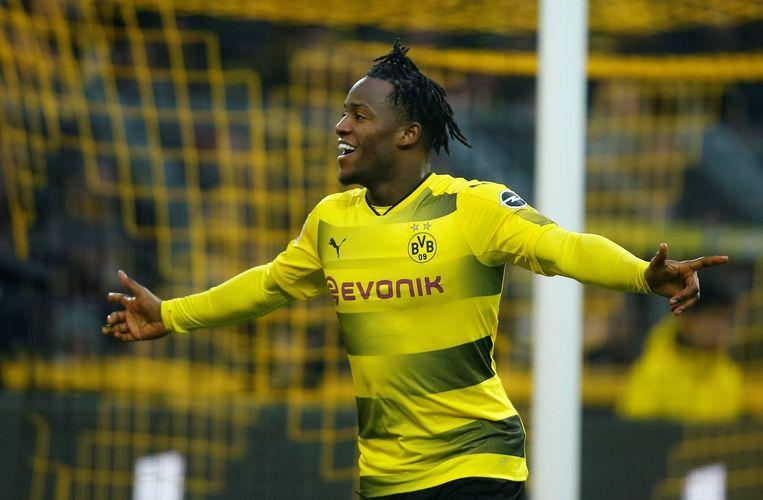 Batshuayi scoorde al 3 keer in 2 matchen voor Borussia Dortmund. Vanavond treft hij Atalanta Bergamo in de Europa League.