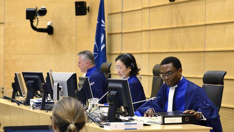 Rechters van het Internationaal Strafhof (ICC) in Den Haag. Beeld anp