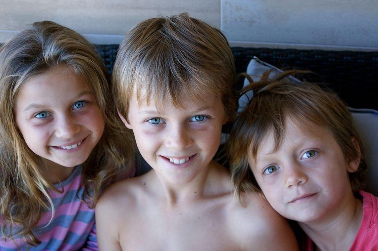 Evie, Mo en Otis Maslin, op een foto die door de familie aan persbureau AP is gegeven. Beeld ap