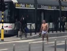 VIDEO. Verwarde man zet boel op stelten aan gerechtsgebouw in Gent
