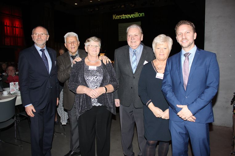 Willy Vanhooren, Marcel Knockaert, Rita  Jacobs, Eddy Daman, Veronique De Keyser en Jens Vanhooren