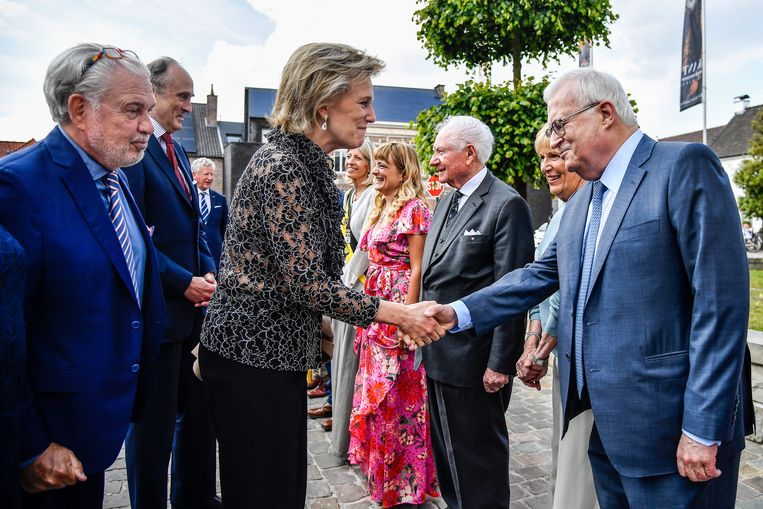 Prinses Astrid begroet Jan Pieter De Nul.