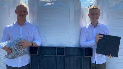 Schildenaar (20) recycleert samen met Nederlandse kotgenoot kunststofafval tot palletten en rijplaten
