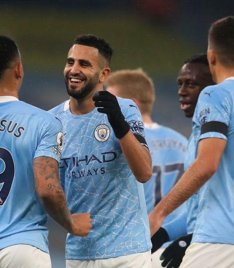 Manchester City haalt uit tegen Burnley en Pieters na hattrick Mahrez