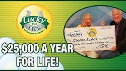 Dan ben je 92 jaar en win je plots '25.000 for Life'