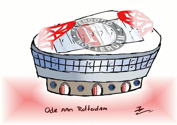 Een bijzondere inzending kwam van Ramon Schram uit Oud-Beijerland. 'Een ode aan Rotterdam', zo noemt hij zijn creatie.