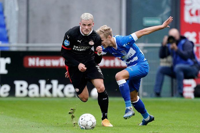 Philipp Max bevestigde in offensief opzicht opnieuw bij PSV.
