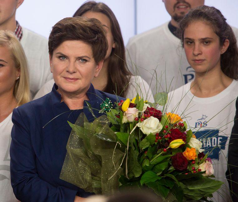 Beata Szydlo wordt waarschijnlijk premier van Polen. Beeld photo_news
