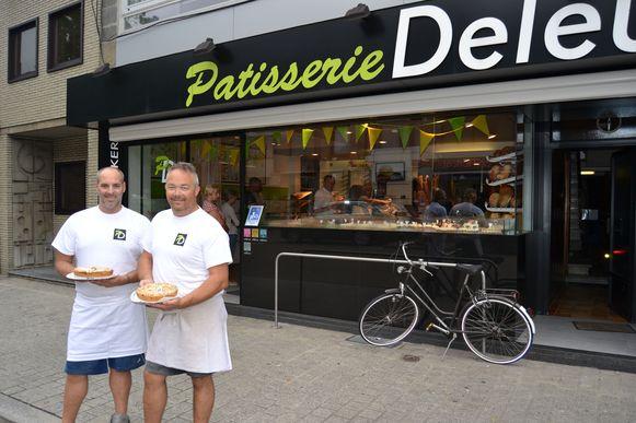 Kevin Blockx en Pieter Vander Bruggen voor Patisserie Deleu.