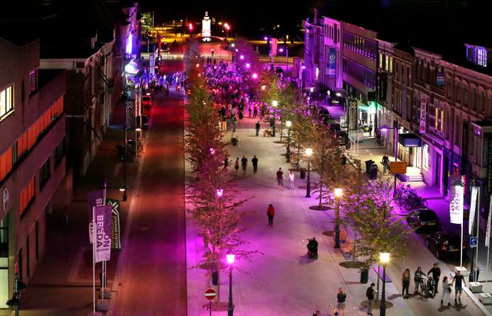 De nieuw ingerichte Willemstraat is als entree naar het centrum een van de troefkaarten van Breda bij de Beste Binnenstad-verkiezing.