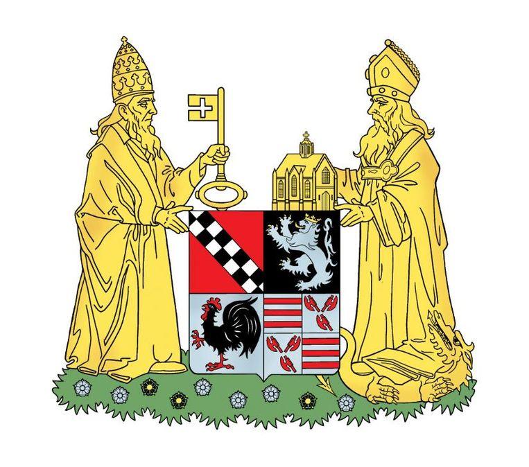 Het nieuwe wapenschild van de fusiegemeente Puurs-Sint-Amands.