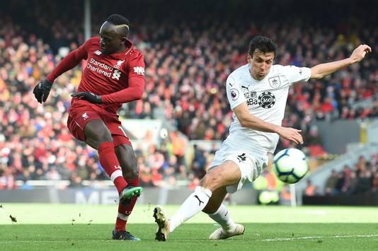 Sadio Mané was tegen Burnley twee keer trefzeker.