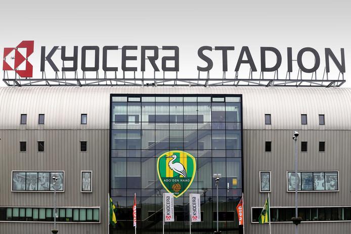 Exterieur van het Kyocera stadion van ADO Den Haag.