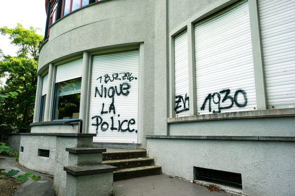 gemeentehuis van Zaventem besmeurd