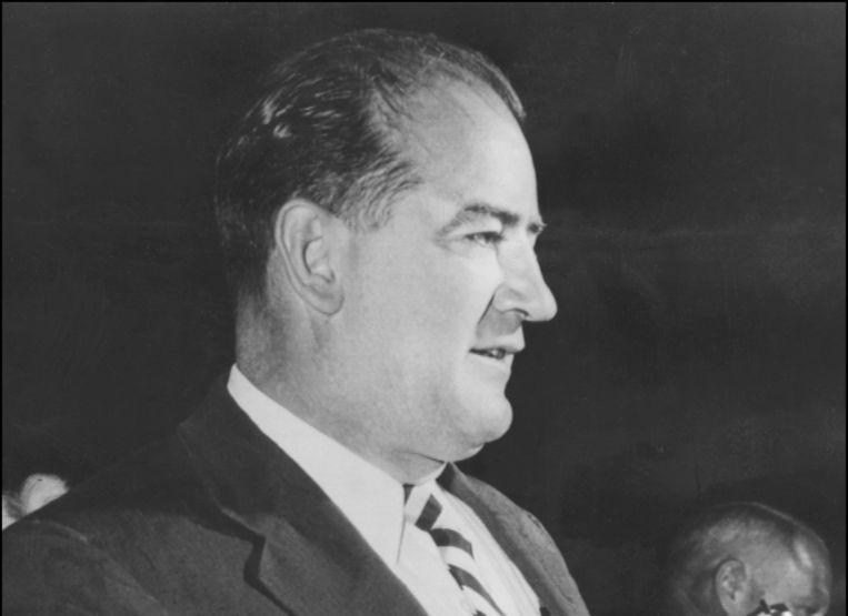 Joseph McCarthy in 1954. Beeld afp