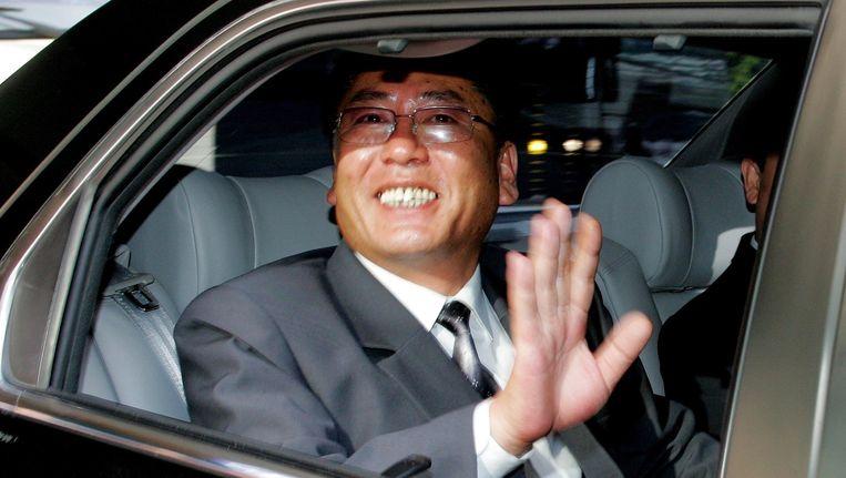 De Noord-Koreaanse vicepremier keert in 2005 terug naar Noord-Korea na onderhandelingen met Zuid-Korea. Beeld AFP