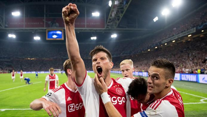 Vreugde bij de spelers van Ajax.
