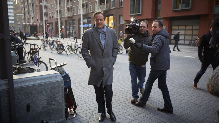 Fractievoorzitter Alexander Pechtold van D66 komt aan bij het ministerie van Wonen. Beeld ANP