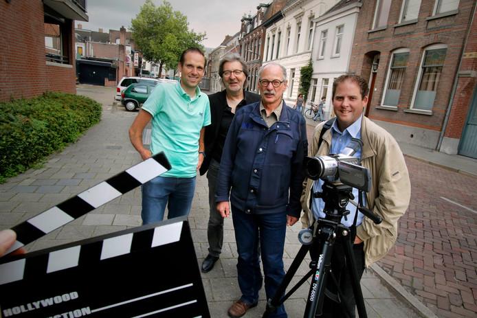 Roosendaal : diinsdag 25 juli 2017   Organisatoren Short Film Festival    foto : Gerard van Offeren op foto vlnr : Daan Frantzen , Luc Godrie , René Spruijt en Christian Godschalk .
