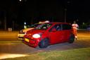 Ook de auto van de verdachte raakte beschadigd.