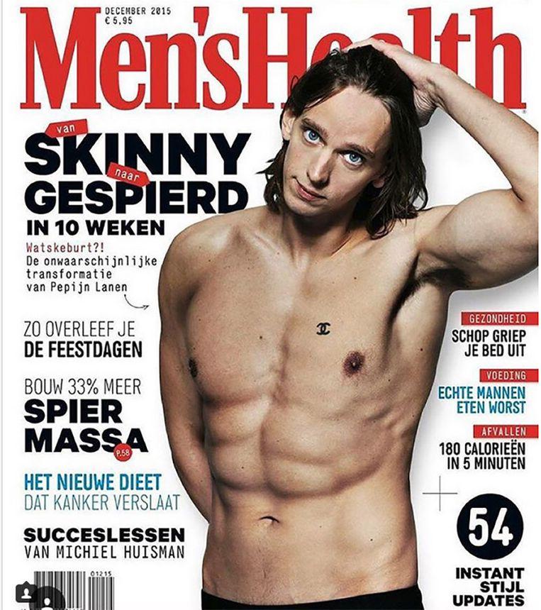 Pepijn Lanen op de cover van Men's Health Beeld Men's Health