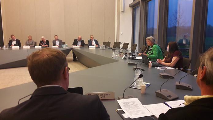 Informateur Annelies van der Kolk spreekt de raad van Bronckhorst toe.