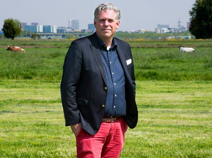 Cees Bos in de polder Rijnenburg