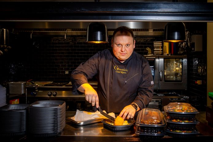 Chef Bjorn Van Schelvergem van Brasserie Goestink in Haaltert.