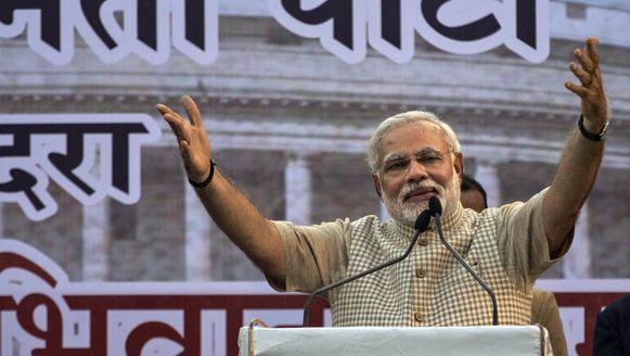 De nieuwe premier van India, Narenda Modi.