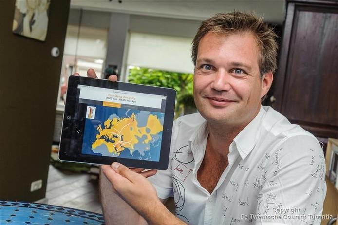 Martijn Bekhuis met zijn afkomst in beeld