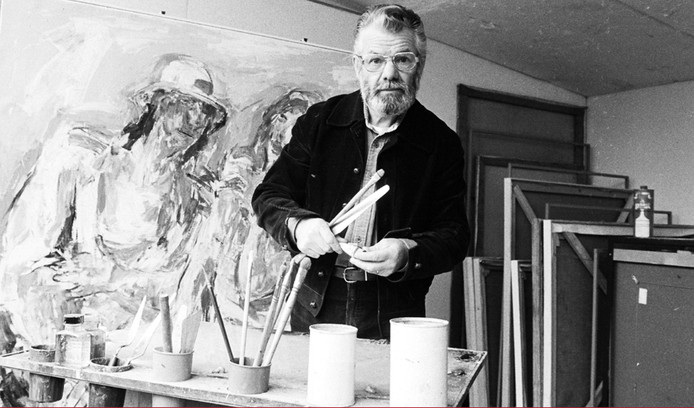 Kunstenaar Wim Schütz