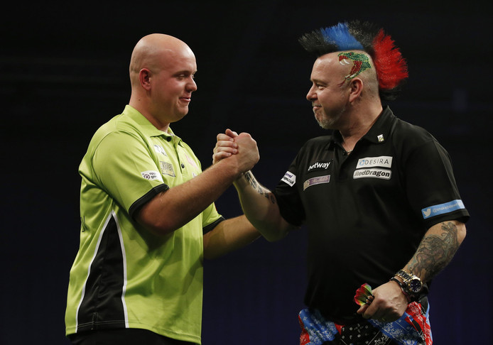 Michael van Gerwen en Peter Wright.
